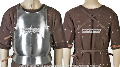 Antique XL Size Medieval 15th Century Body Armor Breast Plate Steel LARP Costume