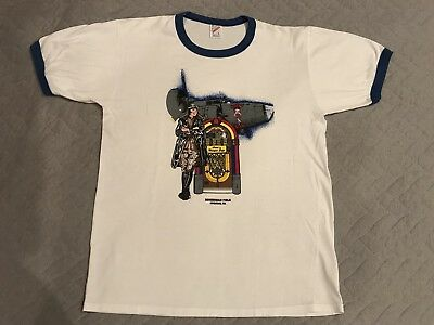 Vtg 90s 80s JERZEES Betty Boop WA RINGER T-Shirt Mens Size Large USA Made