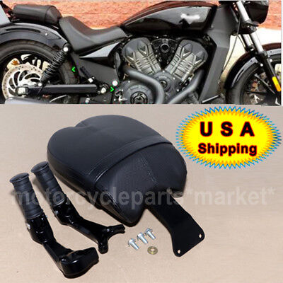 New Leather Rear Passenger Pillion Pad Seat For Victory Octane 2017 US Stock