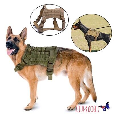 Tactical Large Dog Training Vest Harness Military K9 Water Resistant Harness New
