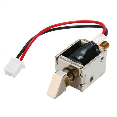 DC 12V 0.5A Electric Bolt Solenoid Lock Push-Pull Cylindrical Door Cabinet Lock
