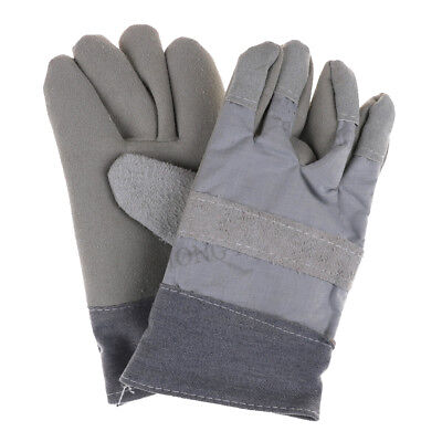Pro Safe Welding Work Soft Cowhide Leather Plus Gloves For Protecting HandFE