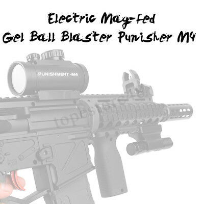 🇦🇺 DIY Electric Mag-fed M4 Punisher Water Bullet Gel Ball Blaster Outdoor Toy