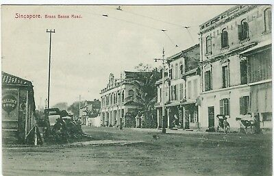 Singapore 1900s Brass Bassa Road postcard unused