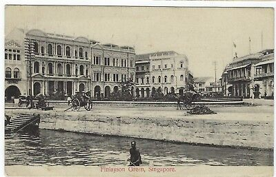 Singapore 1910s postcard Finlayson Green used