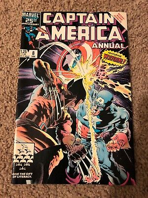 Captain America Annual #8 Guest Starring Wolverine! Great Mike Zeck ART VF