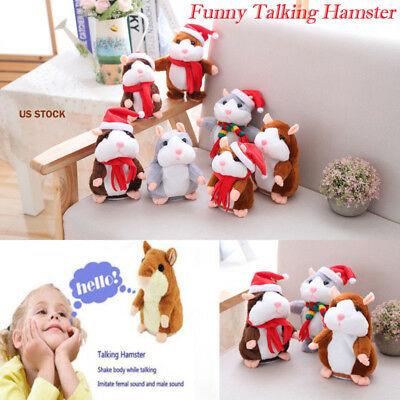 Cheeky Hamster Talking Talking Nodding Sound Record Electric Toy Xmas Gift USA