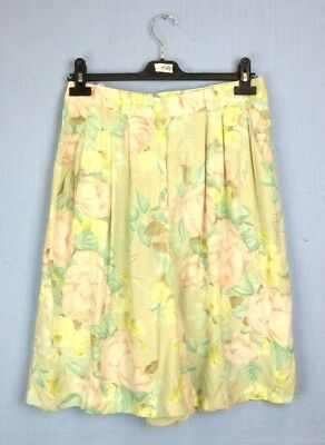 """VINTAGE RETRO pink FLORAL HIGH WAISTED SUMMER SHORTS HIPPY 70's w28"""" ws54"""