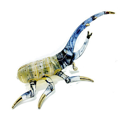 Beetle Insect Weevil Blown Glass Bug Hand Painted Souvenir Art Decor Collectible