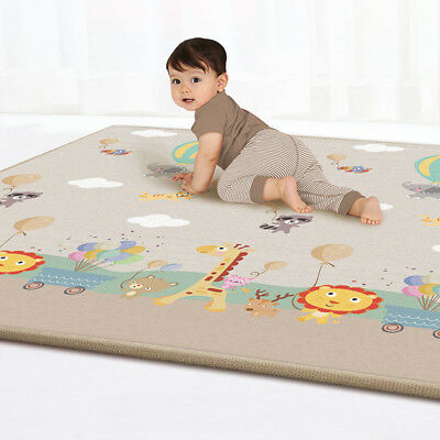 Baby Play Mat Kids Floor Activity Game Reversible Thick Folding Infant Crawling
