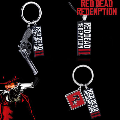 Red Dead Redemption 2 Keychain Keyrings Bag Tag Gun Pendant Party Small Gift