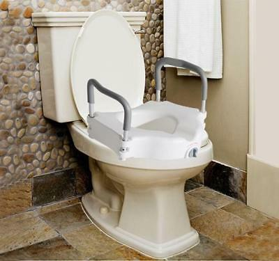 Raised Elevated Toilet Seat Elderly Bathroom Seating Helper With Support Arms