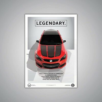 Lowndes Edition Holden VF Commodore Red Hot A1 Poster Print - The Render Garage
