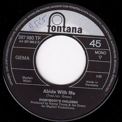 Vinyl Single : Everybody's Children - The time is now /  Abidy with me D525