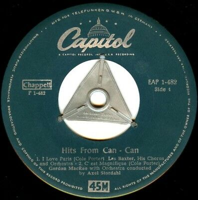 Vinyl EP Single : Hits from Can-Can - I love Paris / C'est magnifique u.a. J830