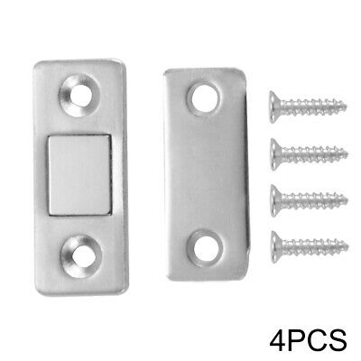 4 Set Wardrobe Door Catch Latch Magnetic Lock Strong Suction for Cupboard HS1255