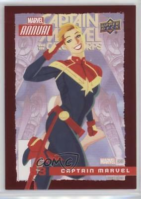 2016 Upper Deck Annual Red #53 Captain Marvel Non-Sports Card 0p3