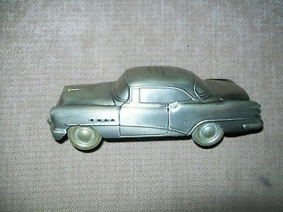 1954 BUICK Cast Iron Coin Bank =1974 -Banthrico adv = Armstrong trust  company