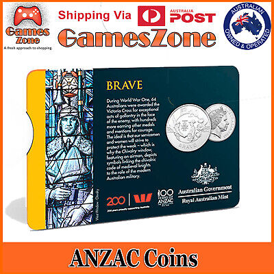 Official 2018 ANZAC Spirit Coin Collection - Brave Free Postage