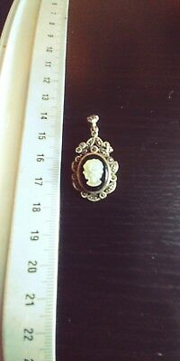 Past Times Cameo Pedant No Chain sterling silver