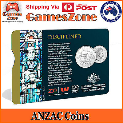 Official 2018 ANZAC Spirit Coin Collection - Disciplined Free Postage