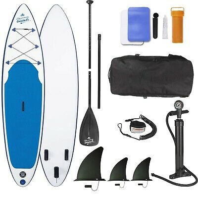EASYmaxx SUP aufblasbares Stand Up Paddle Board 320cm + Bag + Pumpe + Paddle