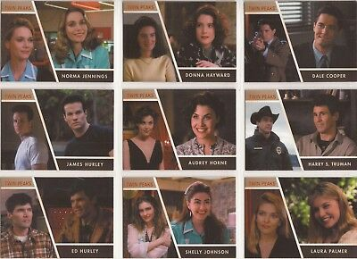 Twin Peaks - CC1-42 Complete Set of 42 Character Chase Cards