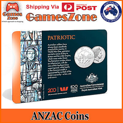 Official 2018 ANZAC Spirit Coin Collection - Patriotic Free Postage