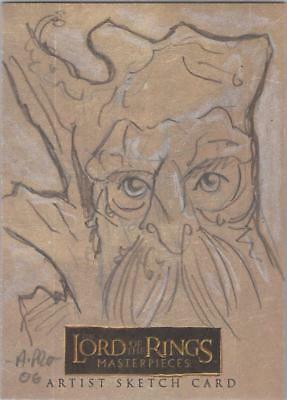 """Lord of the Rings Masterpieces - Amy Pronovost """"Treebeard"""" Sketch Card"""