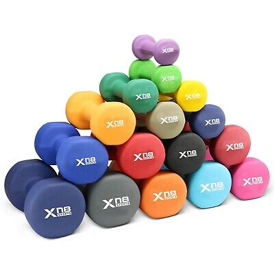 XN8 Neoprene Dumbbells Pair Hand Weights Set Fitness Yoga  Gym Training Dumbells