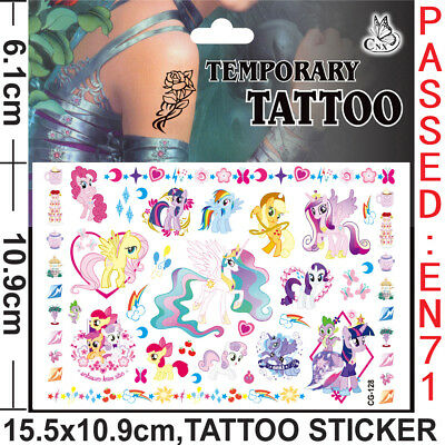 My little Pony Kids Gift Temporary Art Tattoo Sticker Removable Waterproof