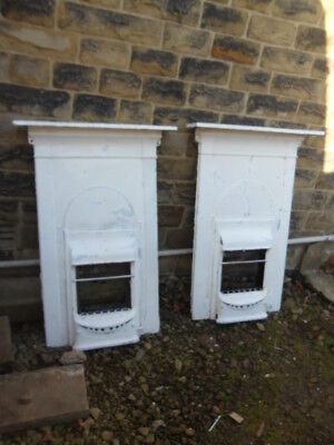 pair of art deco cast iron fireplaces antique fire surrounds buying 1 of 2 avail
