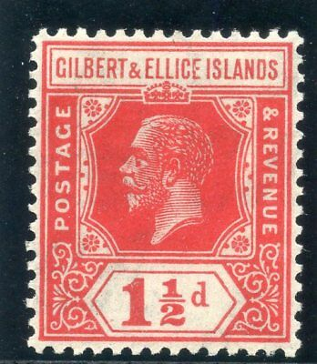 Gilbert & Ellice Islands 1924 KGV 1½d scarlet superb MNH. SG 29. Sc 29.