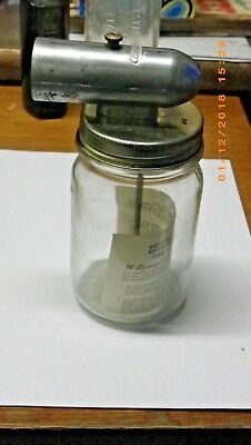 Vintage Air-Way Sprayer With Glass Jar & Instructions Sheet Paint Spray Air