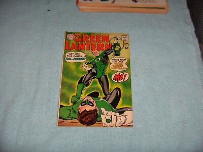 Green Lantern Hal Jordan Vintage DC Comic Book No.59 March 1968 Gil Kane VF