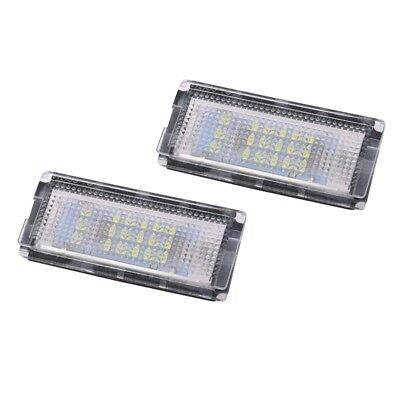 2 Pcs Plate Light 18 LED 3528SMD White License Plate Light for BMW E46 Y7L4 1X