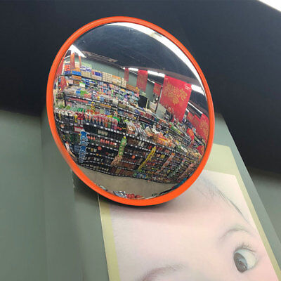"""12"""" Wide Angle Convex PC Mirror Wall Mount Corner Blind Spot Security and Safety"""
