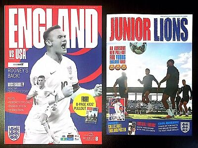 ENGLAND v USA Official Programme With Free Pullout 15th November 2018