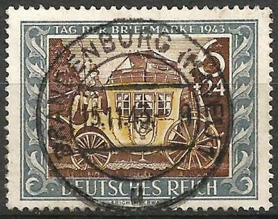 Germany (Third Reich) 1943 Used Stamp Day Old Mail Coach Mi 828 SG 816