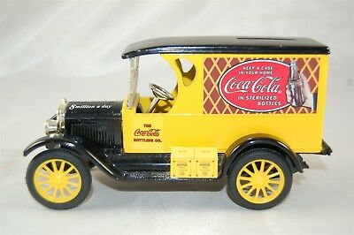 ERTL Coca Cola Coke 8 Million A Day Yellow Delivery Truck Diecast Coin Bank