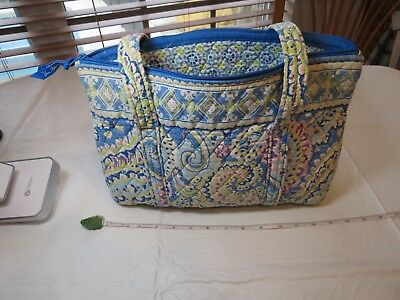 4f3302799870 Capri Blue Vintage Vera Bradley tote purse shoulder bag retired RARE  pattern VTG