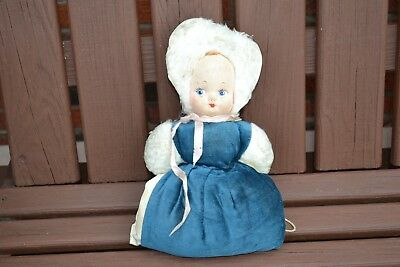 Vintage Child's Doll Muff/Hand Warmer~Well Loved/Worn~ 70 years old
