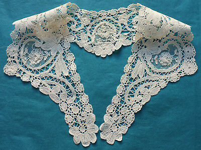 Antique Brussels Duchesse and point de gaze lace small collar