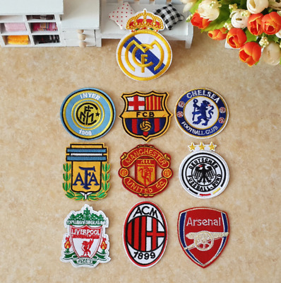 Embroidered Football Club Sport Sew Iron on Patches Badge Hat Fabric Applique