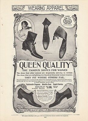 1899 Thomas G Plant Co Boston MA Ad: Queen Quality the Famous Shoes for Women