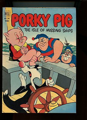 Four Color #385 Fine 6.0 (Fn) Porky Pig Isle Of Missing Ships 1952 Dell