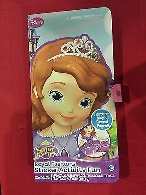New - Disney Princess Sofia The First Royal Fashions Sticker Activity Fun Kit