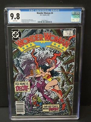 Dc Comics Wonder Woman #4 1987 Cgc 9.8 White Pages Newsstand