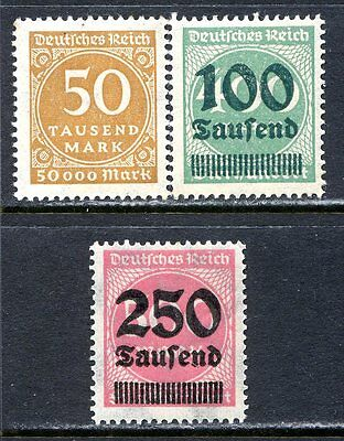 Germany Postage Stamps Scott 239, 254, 259, Mint Never Hinged!! G1156b