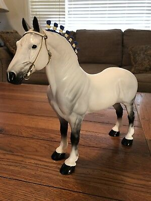 Peter Stone 2000 Riegsecker Standing Percheron 98/500 Made. Signed. With Halter